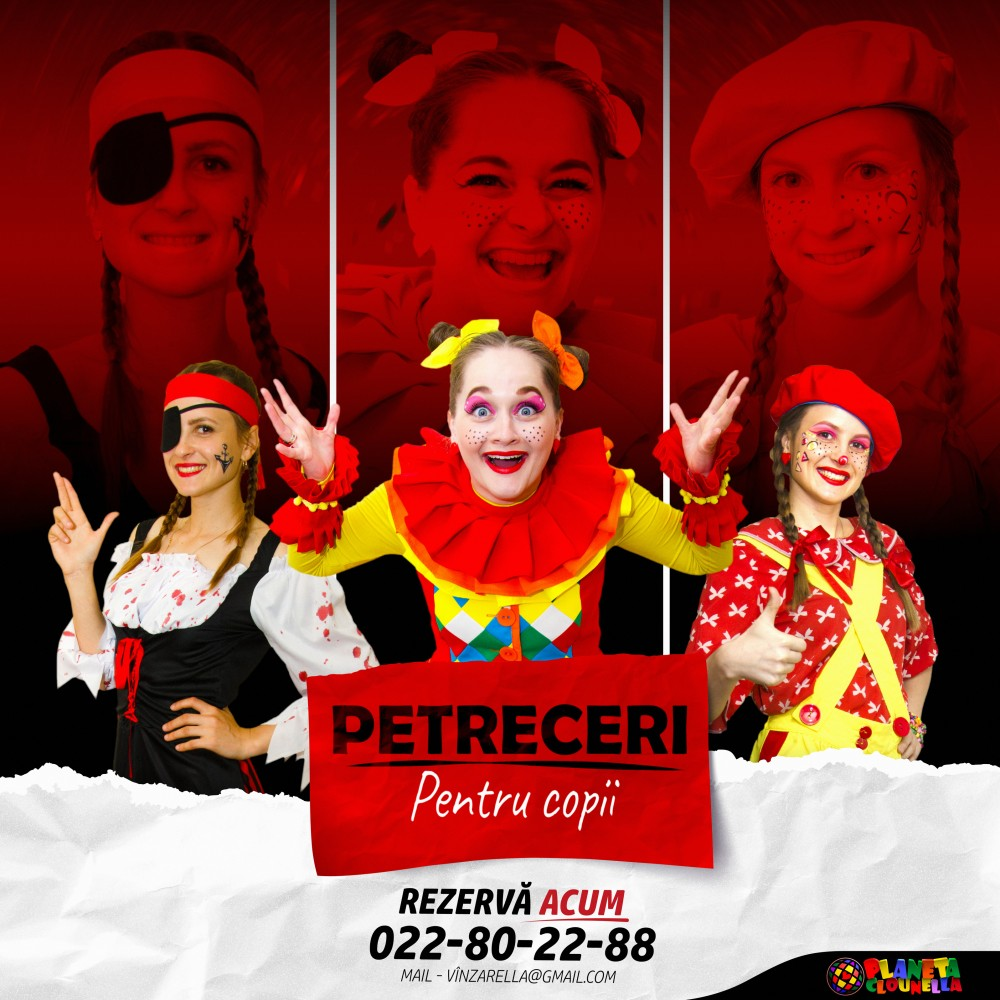 Clounella Organizăm Program Distractiv La Cumetrii Animatori Chisinau